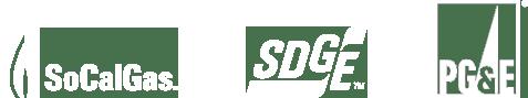 SoCal Gas, SGDE and PG&E logos